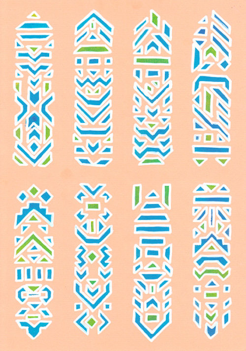 Modern Tribal Pink Signage - Limited Edition Geometric Print
