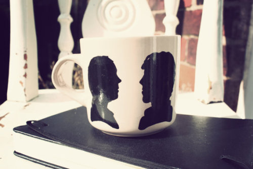 New!   Sherlock silhouette mug - buy from Mr Teacup on Etsy