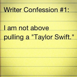 matthewhubbard:  #writerconfession (Taken with instagram)  Afraid I may already be guilty of this…