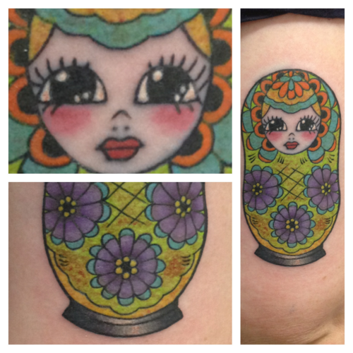 Babushka tattoo by Aaron Wheatland