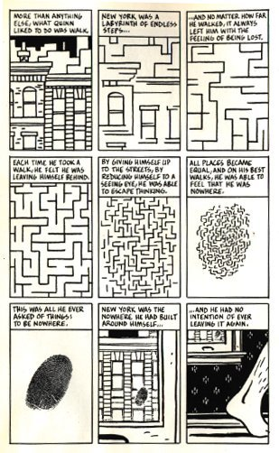 City of glass - Paul Auster, Paul Karasik, David Mazzuchelli - 1994 Source: du9