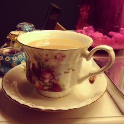 A nice cup of tea will help me sleep like a baby.  (Taken with instagram)