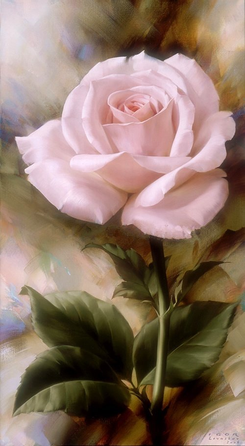art-and-dream:  Art painting flowers rose wonderful by Igor Levashov