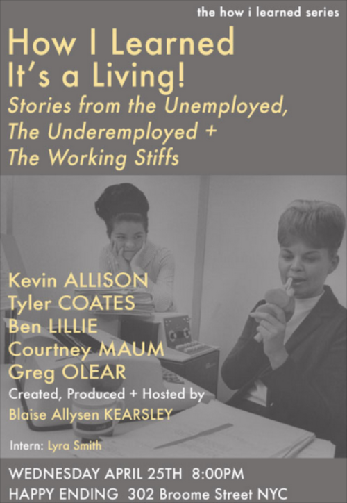 tylercoates:  I'll be at this event tonight! You should come!  Good people, event, venue.