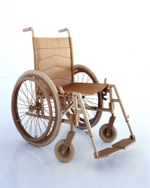 Realistic wheelchair made from cardboard by Chris Gilmour