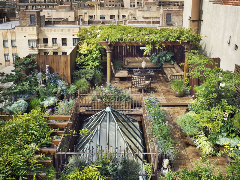 theaestate:  fantasy rooftop garden VIA