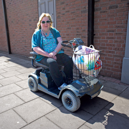 Mobility Scooter Sighting 49 - Shrewsbury, Shropshire A pavecraft rider enjoying the early spring air outside Netto, I wonder how she damaged her bodywork, perhaps a nasty crash with another mobility scooter? http://www.steffanmacmillan.com Have you snapped a mobility scooter? All submissions will be greatly appreciated. Enjoyed this blog? Donate to Age… http://www.ageuk.org.uk/get-involved/make-a-donation/ Enter our Mobility Scooter icon design competition… http://mobilityscootersightings.tumblr.com www.steffanmacmillan.com