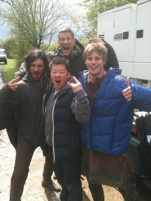 @eoincmacken: The boys with king of Cinema-Dave Forman aka 'Leonardo':Teenage Mutant Ninja Turtles. Cowabunga baby! @Tomhopperhops