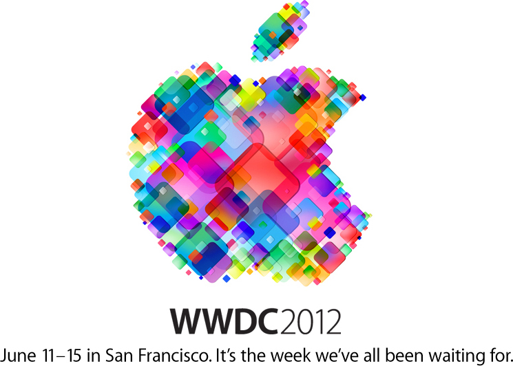 In all its glory, the winner for most hideous version of the Apple logo:  WWDC 2012