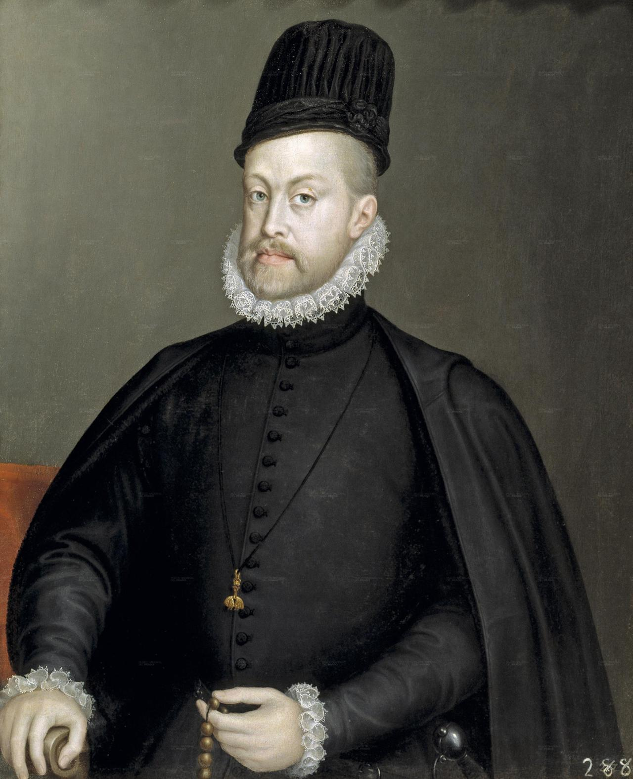 "fuckyeahhistorycrushes:   Philip II is quite possibly one of the most complex and contradictory characters in History. Throughout centuries his image was tainted by the Black Legend which portrayed him as a murdered, fanatic, cruel King. He is still seen like that by some people especially in English speaking countries, however due to the work of amazing historians, there has been an attempt to portray him as a very very complex man with a lot of flaws but another great lot of virtues.  And he is my historical crush because of that precisely: he is immensely complex. And because he has bedroom blue eyes and a trimmed blonde beard, an imposing nose…and his lips. His perfect lips of a ""man who has kissed a lot"" (As a Portuguese writer put it). Check out more of his portrays especially his younger ones (by Titian or Antonio Moro)"