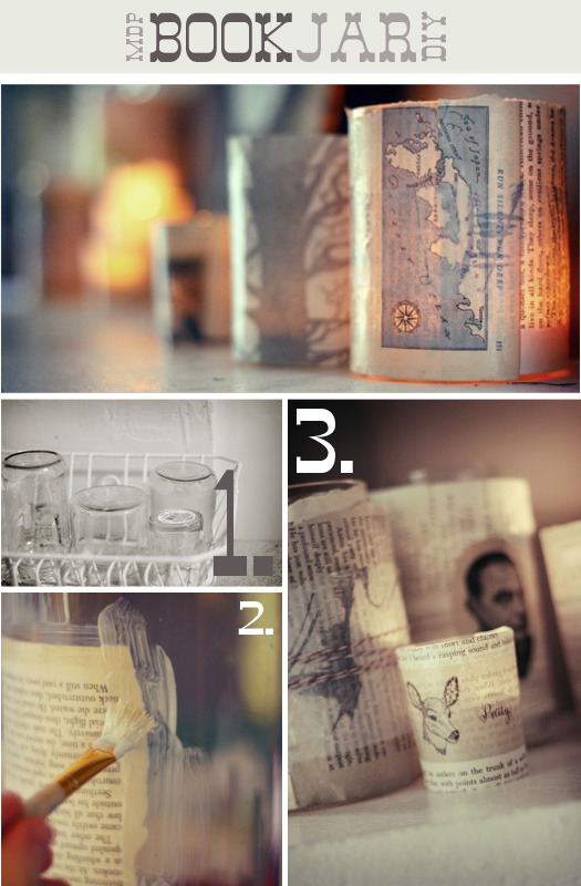 bookriot:  Turn your old jars into beautiful bookish accessories! Book Fetish: Volume XXVII