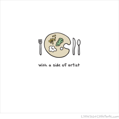 """Side of artist"" by little shirt, little pants."