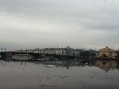 Ice is still flowing down the Neva, must be Spring :)