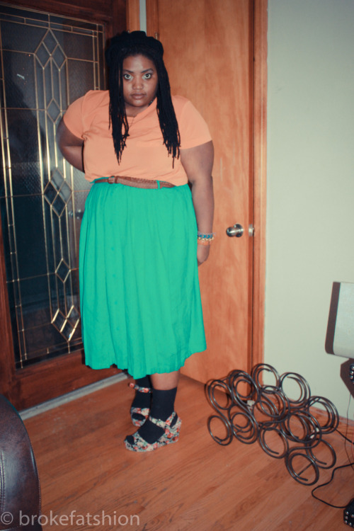 Celebration of LIFE…via colors  socks,skirt both thrifted .99 shoes urban outfitters