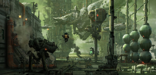 hawken, scifi illustration  by khangle watch: genesis.