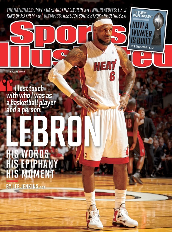 This week's Sports Illustrated features Lebron James as the NBA playoffs are set to begin.