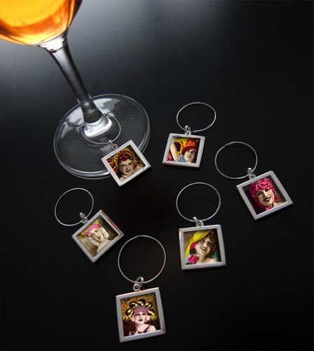 Make Your Own Photo Wine Charm Tags Kit