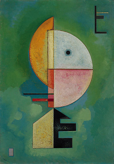 "2headedsnake:  wassilykandinsky.net Wassily Kandinsky, ""Upward"", 1929, Oil on cardboard"