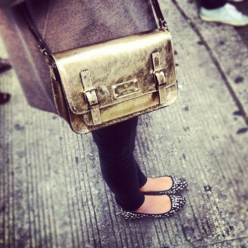 luckymag:  A @katespadeny Scout and spots. (Taken with instagram)