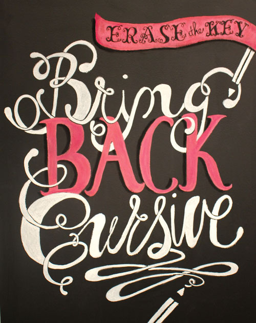 "Typeverything.com - ""Bring back Cursive"" project by Cristina Vanko (via Quipsologies)"