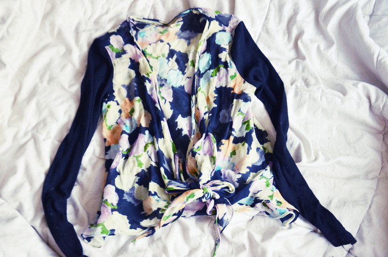 ELIZABETH AND JAMES FLORAL CARDI | $1 | Buffalo Exchange Earth Day Sale