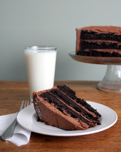 foodopia:  sweet and salty chocolate cake: recipe here