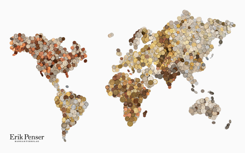 Coin World Map contains approximately 3,000 coins and every continent is built out of its countries' currencies. This map made me to think what else we can use to represent country characteristics? Faces of people? Landscape colors? Languages? I believe it's much nicer to see image/collage-maps rather than colored thematic world maps which represents GDP or any other economic indicator. (via chartporn)