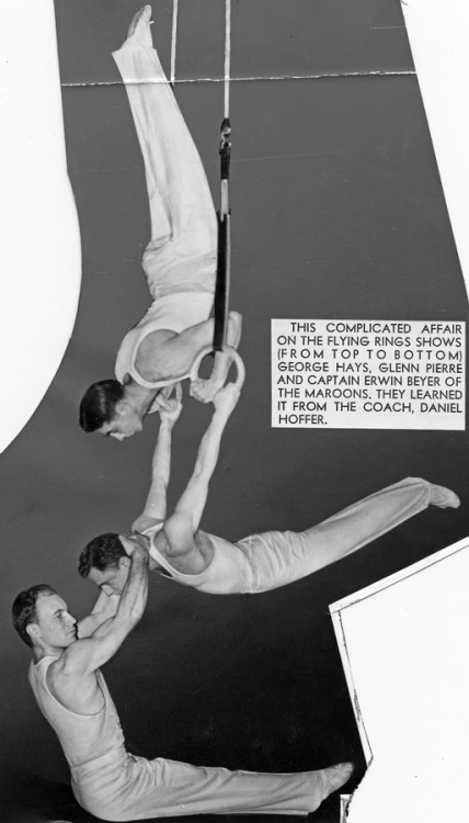 UChicago men's gymnastics, 1939. They learned it from the coach.