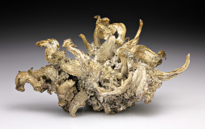 silver extracted in its natural shape from a mine in the shanxi province, china