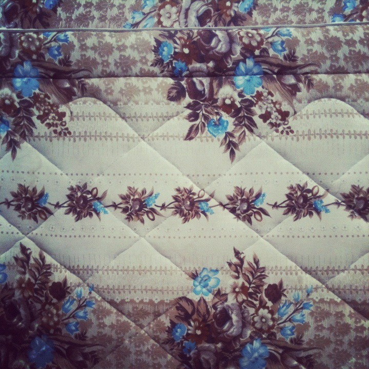 Discarded Pattern (Taken with instagram) I found this beautiful patterned mattress and matching bed base discarded by the side of the street one day in Sydney.