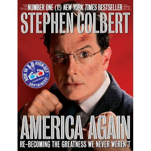On last night's Colbert Report, Stephen showed off the cover of his Maurice Sendak-blurbed children's book, I Am a Pole (And So Can You!), which will hit bookshelves on May 8. He also announced that the audiobook will be read by Tom Hanks and sat down with Dame Julie Andrews to discuss her 26 children's books and princess underpants. But did you know Stephen has another book coming out this year? It's true! America Again: Re-becoming the Greatness We Never Weren't will be released October 2 and is available for pre-order now! Your dream of an entire bookcase filled with the writings of Stephen Colbert is one step closer to a reality.
