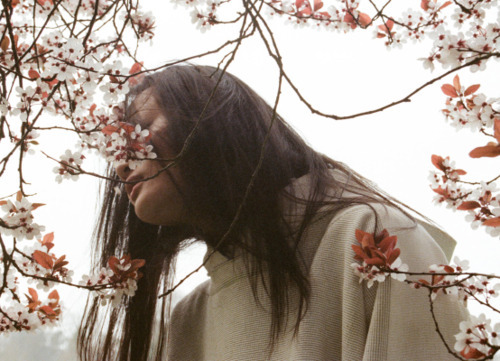 "jelenanightonthesun:  ""Where have all the Flowers Gone?"", Liu Xu & Hyun Yi by Lina Scheynius for Dazed & Confused June 2011"