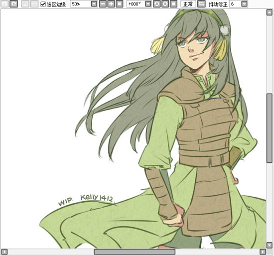 "the-avatar-nation:  ""Master Toph.""  She stills has her headband! What a cutie."