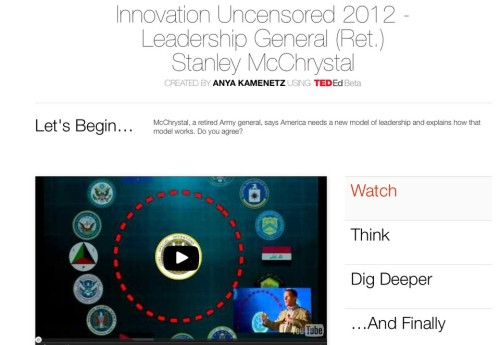 "Watching and learning. smarterplanet:  TED-Ed's New Video Tool Allows Anyone To Create Video Lessons Online  TED-Ed's new free platform allows anyone to ""flip"" any video on YouTube by adding custom content to play alongside it, making it possible to turn any piece of video content into a teachable moment.  Read more->"