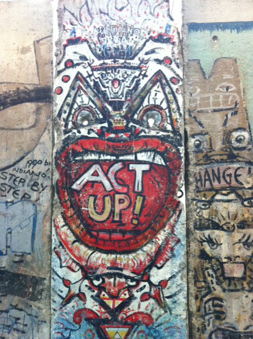 Piece of the Berlin Wall at the Newseum