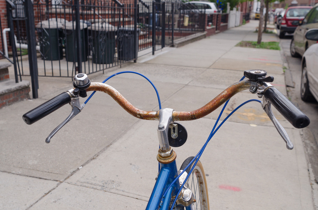 Rusty and Blue  Over the Handlebars