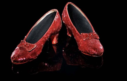 1939 Judy Garland's ruby slippers for the character of Dorothy, The Wizard of Oz; Nat'l Museum of American History via