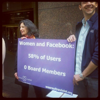 Lunch time #fbprotest (Taken with instagram)