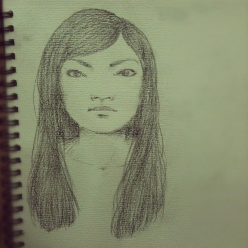 The curious case of the chinky eyes. Asian face study hurr :} (Taken with instagram)