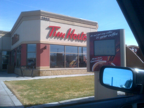 …at Tim Hortons