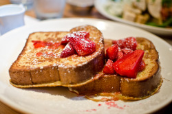 f-word:  french toast with strawberries photo by aubreyrose