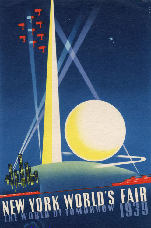 Poster for the 1939 New York World's Fair by Joseph Binder, from PANTONE's color history of the 20th century.