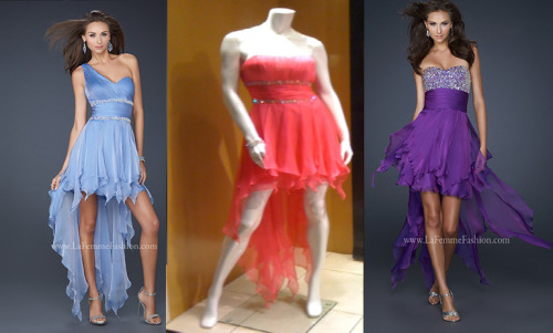 Do you love our high-low hem gowns? Check out styles 17724, 15027, 17732, 17689, 17687, and more on our website!