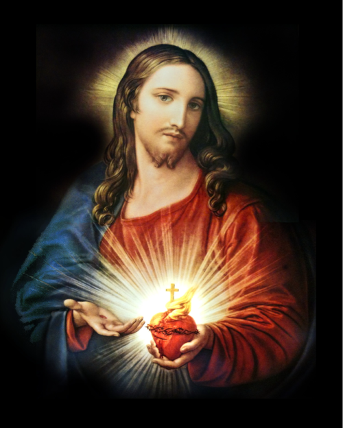 "anotherdayofmercy:  The Sacred Heart of Jesus ""Wherever a picture of My Heart is exposed and honored, it will draw down all manner of blessings."" - Revelation of Our Lord to St. Margaret Mary Alocoque"