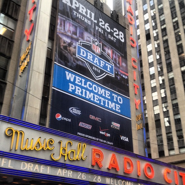 This is going to be fun. #NFL #DRAFT (Taken with Instagram at Radio City Music Hall)