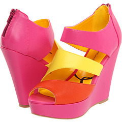 Fabulous neon colorblock wedges