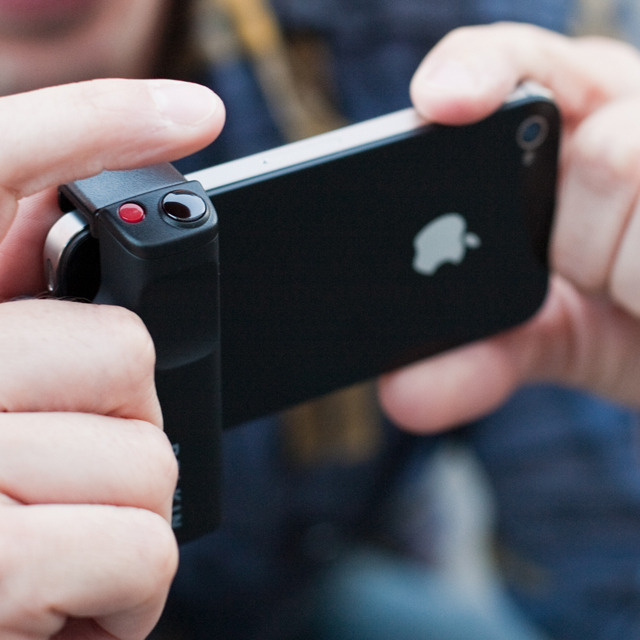 whereisthecoool:  iPhone Shutter Grip Always taking pictures with your iPhone? Up your Instagram game with this iPhone Shutter Grip. It connects into your charging slot, and comes equipped with a photo and video button so you'll never miss a moment. It even fits over your existing case and has the ability to take stills while shooting video. Next stop, James Cameron. (Via Surplus)