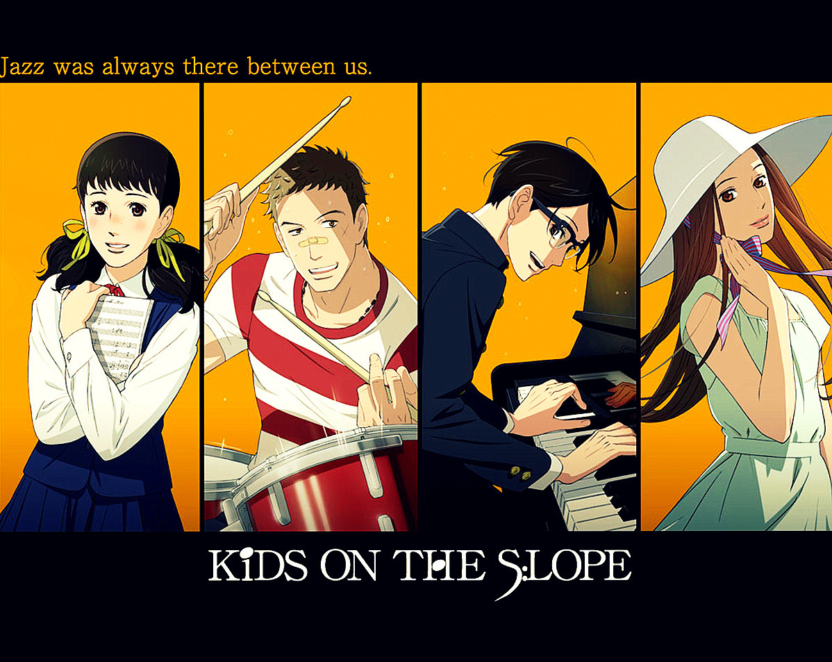 One of the shows I'm anticipating each week is Kids on the Slope (Sakamichi no Apollon). I'm looking forward to see how the quadrangle complications will pan out but oh my, it's going to be interesting.