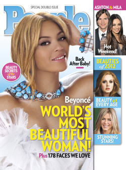 QUEEN B: @Beyonce is named People Magazine 'Most Beautiful Woman of 2012' since Halle Berry a couple years back! And who really can disagree?! Unless you a professional hater. GO BEY! —respect it