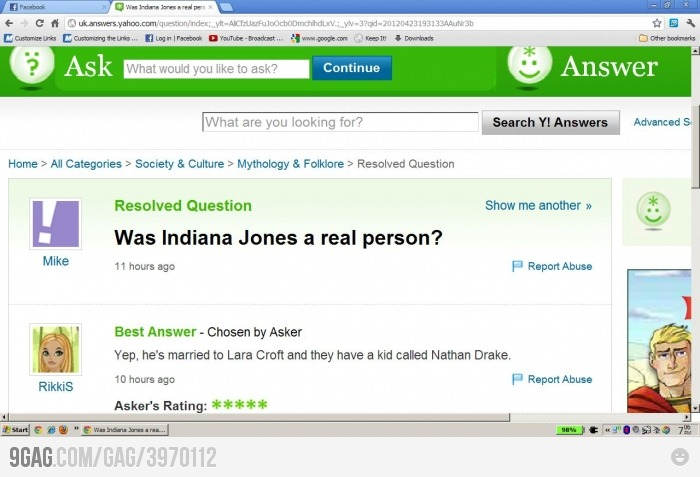 Is Indiana Jones a real person?